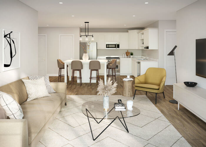 Arcadian Apartments for Rent Interior Living Room